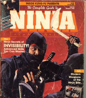 Ninja magazine cover with Peter Brusso on the cover